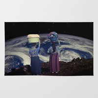 planet Area & Throw Rugs featuring Planet by Cs025