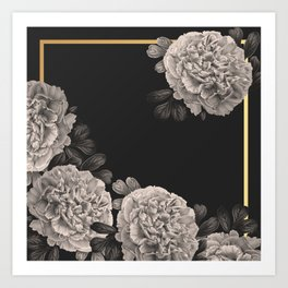 Flowers on a winter night Art Print
