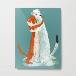 Weasel hugs Metal Print