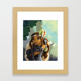 Indie and tiger Framed Art Print