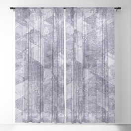 Abstract Geometric Background #26 Sheer Curtain