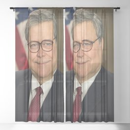 Attorney General William Barr Official Portrait Sheer Curtain