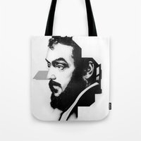 kubrick Tote Bags featuring STANLEY KUBRICK by A. Dee