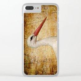 Mr. Stork Clear iPhone Case