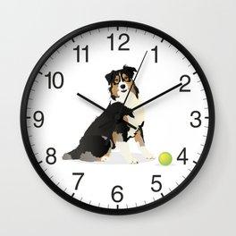 Australian Shepherd Dog Wall Clock