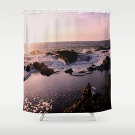 Thor's Well at Sunset Shower Curtain