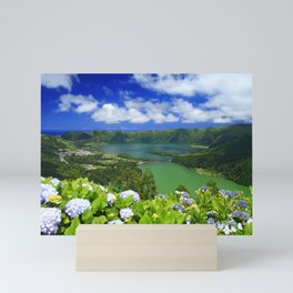 Crater lakes Mini Art Print