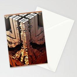 framed mandelbulb fractal -2- Stationery Cards