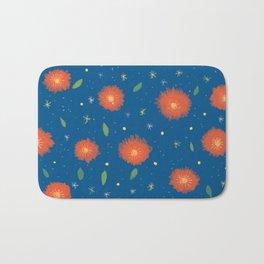 Blue orange pattern Bath Mat