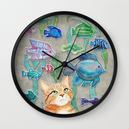 Dreamy Cat Wall Clock