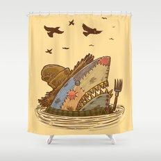 The Scarecrow Shark Shower Curtain