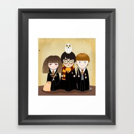 Kokeshis Hermi, Harry and Ron Framed Art Print