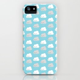 Happy and Sad Kawaii Clouds iPhone Case