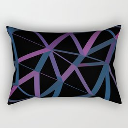 3D Futuristic GEO Lines Rectangular Pillow