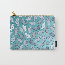 Manatee Pattern Carry-All Pouch