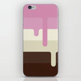Dripping Neapolitan Ice Cream iPhone Skin