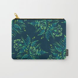 Ferns and Parrot Tulips - Green Carry-All Pouch