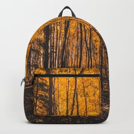 Autumn, yellow forest Backpack