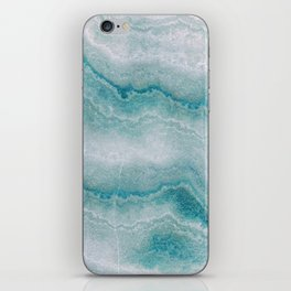Sea green marble texture iPhone Skin