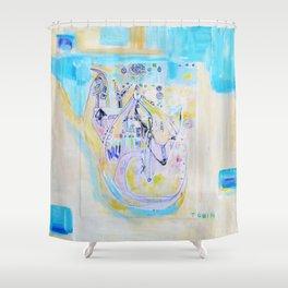 Deer Totem Elder Shower Curtain
