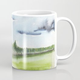 In the Mountains: moody, painterly watercolor landscape Coffee Mug