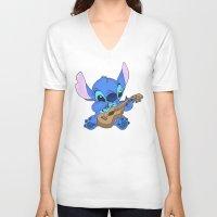 stitch V-neck T-shirts featuring Stitch by Christa Morgan ☽
