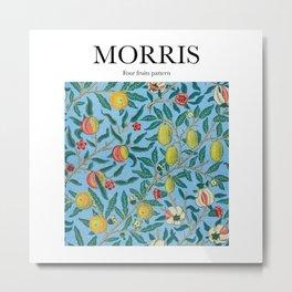 Morris - Four fruits pattern Metal Print