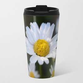 White Daisy Flowers - close up (macro) Travel Mug