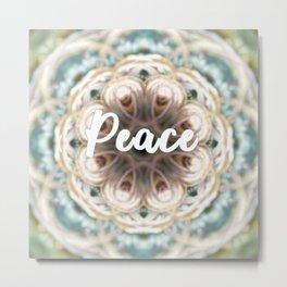 Mandala of the Month: Peace Metal Print