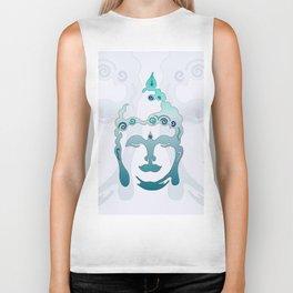 Buddha Head turquoise II Biker Tank