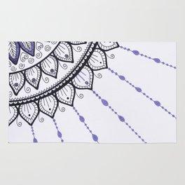 Mandala - Purple and Black Rug
