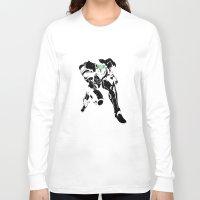 samus Long Sleeve T-shirts featuring Samus Stencil by Wolfe
