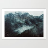 Climbing Through Fog in Spain Art Print