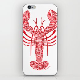 Tribal Maine Lobster on White iPhone Skin