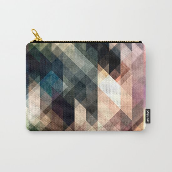 Textured Geometric Abstract Carry-All Pouch