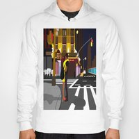 broadway Hoodies featuring BROADWAY KISS by Alfred Fox Art & Photography