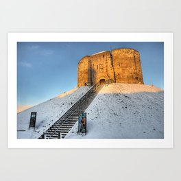 Cliffords Tower, York in the Snow Art Print