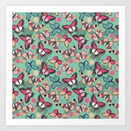 Butterfly pattern 001 Art Print