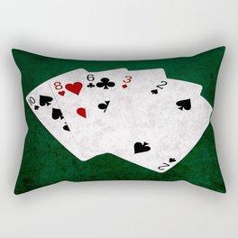Poker Hand High Card Ten Eight Six Three Two Rectangular Pillow