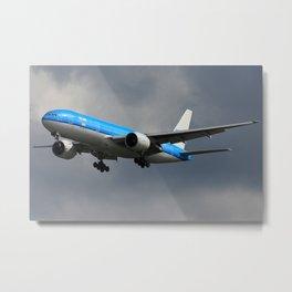 KLM Contrast Metal Print