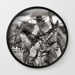 Outlaws Ride Again Wall Clock