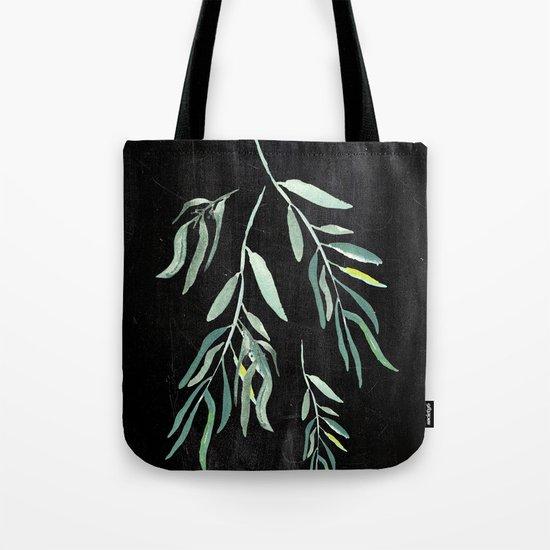 Eucalyptus Branches On Chalkboard II Tote Bag