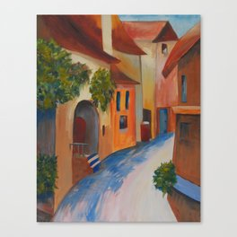 Tuscan Lane Canvas Print