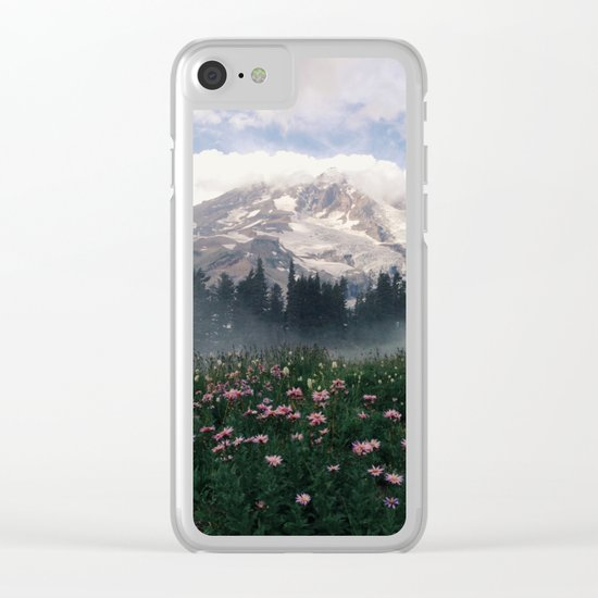 Mt Rainier Clear iPhone Case