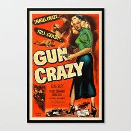 Gun Crazy Vintage Movie Poster Canvas Print