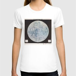 Lunar Reference Mosaic LEM-1 (Moon Map from 1966) T-shirt