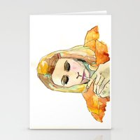 tenenbaum Stationery Cards featuring Margot Tenenbaum by Tessa Heck