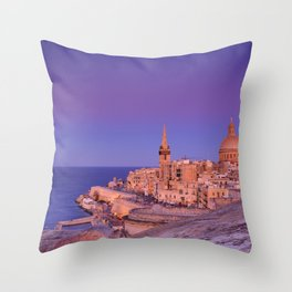 St. Paul's Cathedral in Valletta, Malta. Throw Pillow