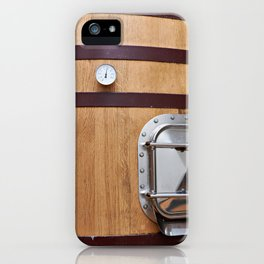 Wooden tank barrel for wine iPhone Case