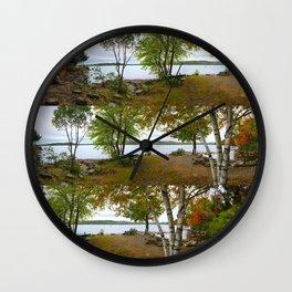 Autumn in Belgrade, Maine (3) Wall Clock